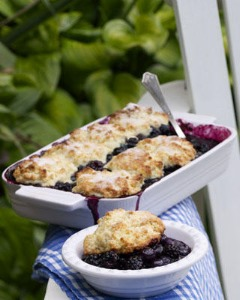 grilled-blueberry-almond-cobbler