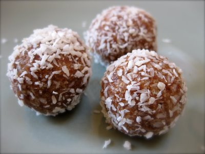 Coconut Date Balls | Can't Stay Out of the Kitchen | we make these # ...