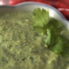 cilantro-garlic-dip