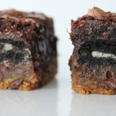 Kosher Recipes chocolate chip and sandwich cookie brownie bar